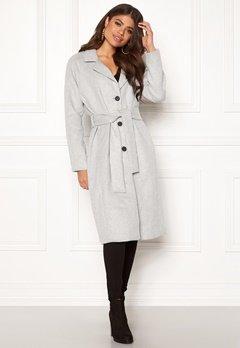 OBJECT Lena Coat Light Grey Melange Bubbleroom.se
