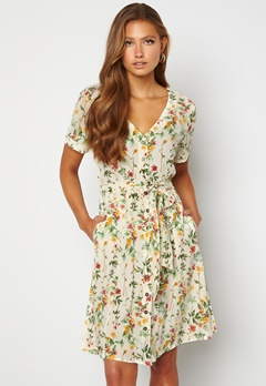 OBJECT Lorena S/S Short Dress Sandshell Bubbleroom.se