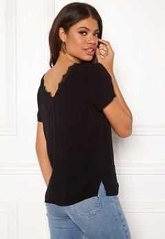 OBJECT Lourdes S/S Lace Top Black Bubbleroom.se