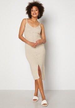 OBJECT Lucilla S/L Knit Dress Sandshell Bubbleroom.se