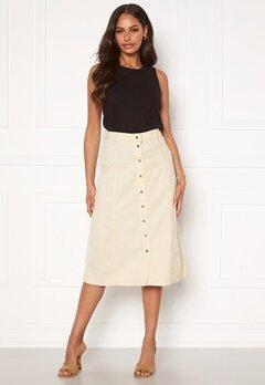 OBJECT Lucinda Sinya Twill Skirt Sandshell Bubbleroom.se