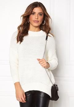 OBJECT Maries L/S knit pullover Gardenia Bubbleroom.se