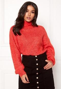 OBJECT Maryam Nete L/S Knit Fiery Red Bubbleroom.se