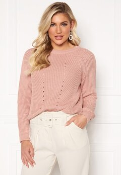 Ines Knitted Sweater Pink  Bubbleroom  Stickade tröjor & koftor