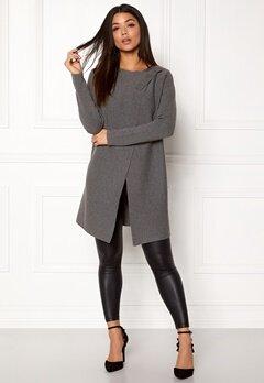 OBJECT My L/S Knit Cardigan Medium Grey Melange Bubbleroom.eu