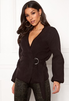 OBJECT Neel Short Knit Cardigan Black Bubbleroom.se