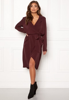 OBJECT Nell L/S Long Dress Chocolate Truffle Bubbleroom.se