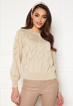 OBJECT Noelle L/S Knit Pullover Sandshell Bubbleroom.se
