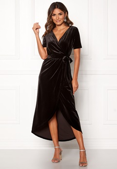 OBJECT Noreena 3/4 Wrap Dress Black Bubbleroom.se