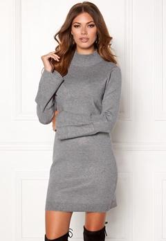 OBJECT OBJCarin L/S Knit Dress Medium Grey Melange Bubbleroom.dk