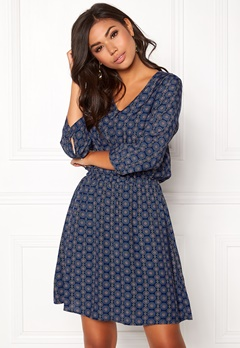 OBJECT Phoebe V-Neck Dress Mood Indigo Bubbleroom.se