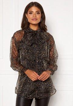 OBJECT Railynn L/S Shirt Sandshell AOP Bubbleroom.se