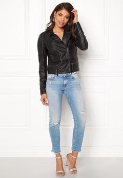 OBJECT Rake Leather Jacket Black Bubbleroom.se