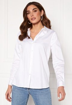 OBJECT Roxa L/S Loose Shirt White Bubbleroom.se