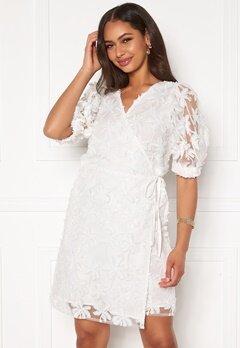 OBJECT Sabrina 2/4 Wrap Short Dress Gardenia Bubbleroom.se