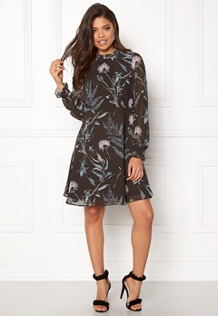 OBJECT Sherry L/S Dress Licorice Bubbleroom.dk