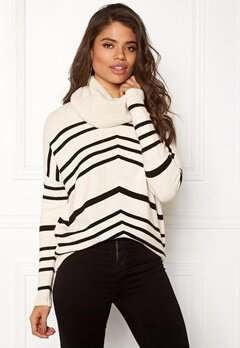 OBJECT SILLI L/S knit pullover Gardenia Bubbleroom.se