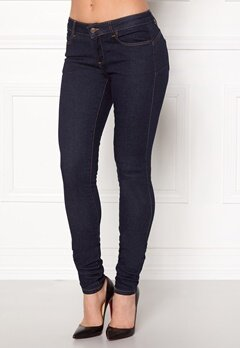 OBJECT Skinny Sally Rinse Jeans Dark Blue Denim Bubbleroom.no