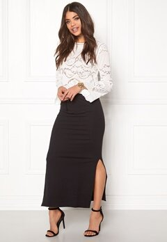OBJECT Stephanie Maxi Skirt Asphalt Bubbleroom.fi