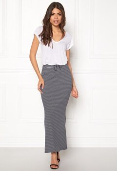 OBJECT Stephanie Maxi Skirt Sky Captain w.white Bubbleroom.dk