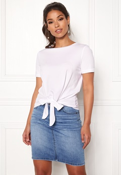 OBJECT Stephanie Maxwell S/S Top White Bubbleroom.se