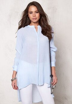OBJECT Summer L/S Long Shirt Light Blue Denim Bubbleroom.se