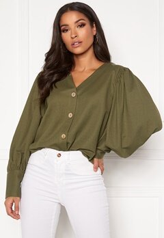 OBJECT Thelma L/S Top Burnt Olive Bubbleroom.se