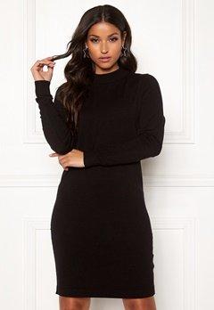 OBJECT Thess L/S Knit Dress Black Bubbleroom.se