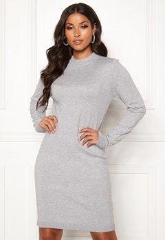 Object Collectors Item Thess L/S Knit Dress Medium Grey Melange bubbleroom.se