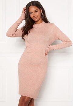 OBJECT Thess L/S Knit Dress Misty Rose Bubbleroom.se