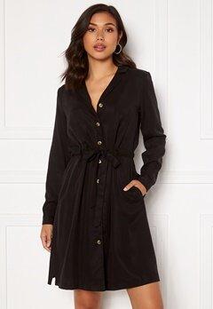 OBJECT Tilda L/S Button Dress Black Bubbleroom.se
