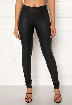 OBJECT Tilde MW Leather Leggings Black Bubbleroom.se
