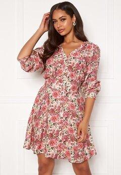 OBJECT Tilli 3/4 Dress Sandshell AOP Bubbleroom.se
