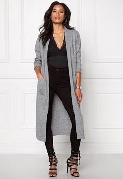 OBJECT Trish L/S long cardigan Medium grey melange Bubbleroom.se
