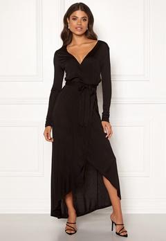 OBJECT Ulani L/S Wrap Dress Black Bubbleroom.se