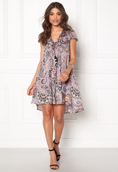 Odd Molly Adventure S/S Dress Dusty Mauve Bubbleroom.se