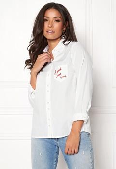 Odd Molly Amusing Shirt Bright White Bubbleroom.dk