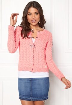 Odd Molly Canal Cardigan Light Coral Bubbleroom.se