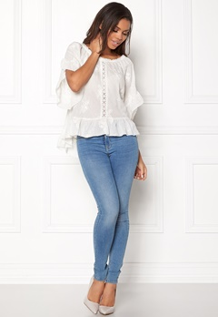 Odd Molly Clever Heart Blouse Offwhite Bubbleroom.se