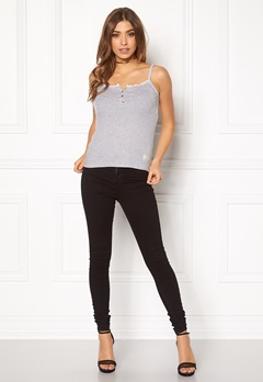 Odd Molly Drop Needle Tank Top Light Grey Melange Bubbleroom.fi