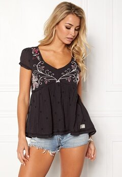 Odd Molly Entertain Blouse Almost Black Bubbleroom.se