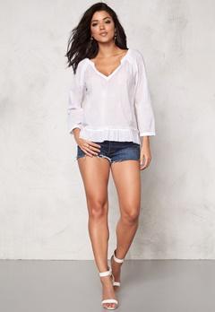 Odd Molly Escape l/s blouse Bright White Bubbleroom.se