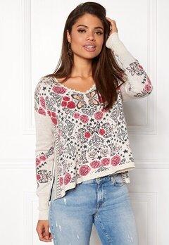 Odd Molly Extra Ordinary Sweater Chalk Bubbleroom.se