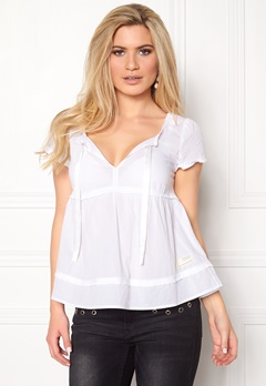 Odd Molly Fin-tastic S/S Blouse Bright White Bubbleroom.fi