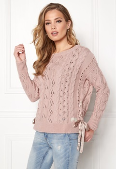 Odd Molly Flurry Sweater Peach Powder Bubbleroom.fi