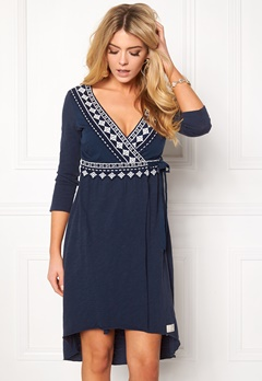 Odd Molly Get-a-way L/S Dress Dark Blue Bubbleroom.fi