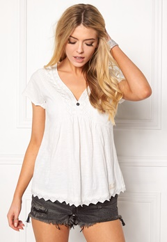 Odd Molly Get-a-way S/S Top Light Chalk Bubbleroom.dk