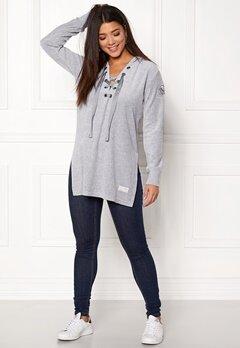 Odd Molly Get Along Hood Sweater Light Grey Melange Bubbleroom.se