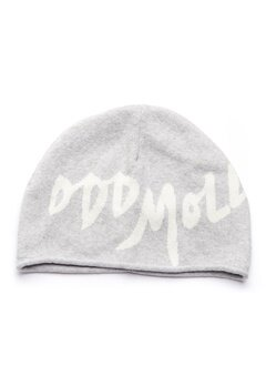 Odd Molly Hey Baby Beanie Light Grey Melange Bubbleroom.fi