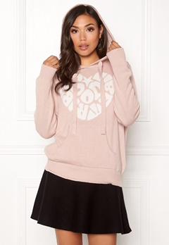 Odd Molly Hey Baby Hood Sweater Pink Sand Bubbleroom.se
